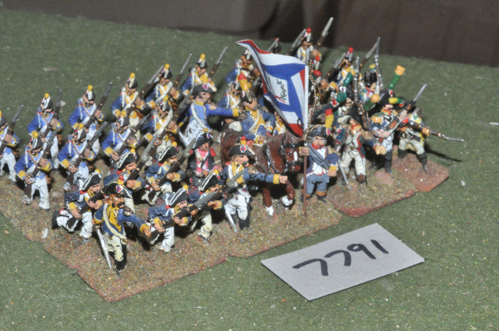 25mm napoleonic   french - revolutionary war infantry 35 figs metal - inf (7791)