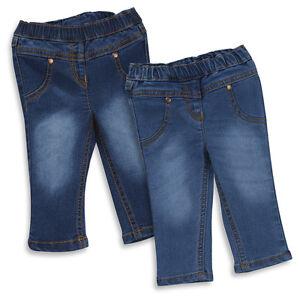 Bebes-NINA-Cintura-Elastica-Vaquero-Pantalones-3-meses-a-6-anos