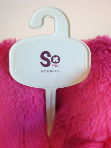 ~ Fuchsia Pink 7-8 SO Plush Pom Pom Clog Slippers Scuffs ~ Size Medium