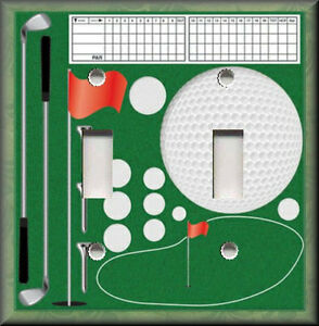 Light Switch Plate Cover Golf Supplies Golfing Home