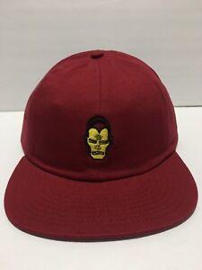 VANS x MARVEL Iron Man Logo Red Hat Strapback Cap Men s One Size NEW ... 6c1d4d4061a