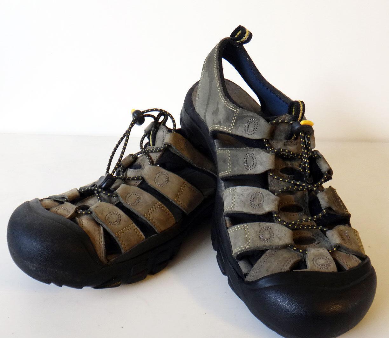 KEEN Hybrid 10 shoe sandal rubber toe water hiking beach nubuck green strap slip