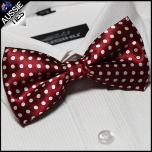 Cherry Red Boys Bow Tie Kid/'s kids Junior Bowtie young