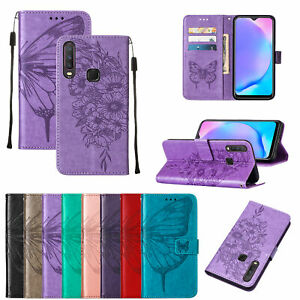Butterfly Pattern PU Leather Wallet Case Cover for iPhone 11 12 Pro Max 7 6 Plus