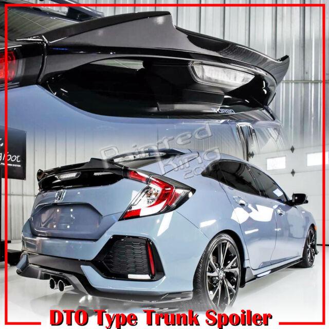 Painted Glossy Black Honda Civic X 10 Hatchback DTO Rear Trunk Spoiler 2019