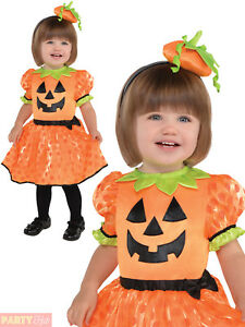Image is loading Girls-Baby-Toddler-Cute-Pumpkin-Costume-Halloween-Fancy-  sc 1 st  eBay & Girls Baby Toddler Cute Pumpkin Costume Halloween Fancy Dress Outfit ...