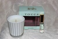 Tocca Mini Rollerball Set Perfume Cleopatra .17 Oz, Mini Candle 2 Oz Set