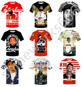3D-Print-Hip-Pop-Rapper-Nipsey-Hussle-Casual-T-Shirt-Men-Women-Short-Sleeve-Top