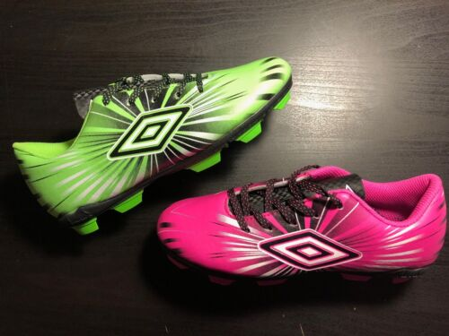UMBRO Kids Arturo 3.0 FG Soccer Cleats NEW Youth Pink or Green NIB