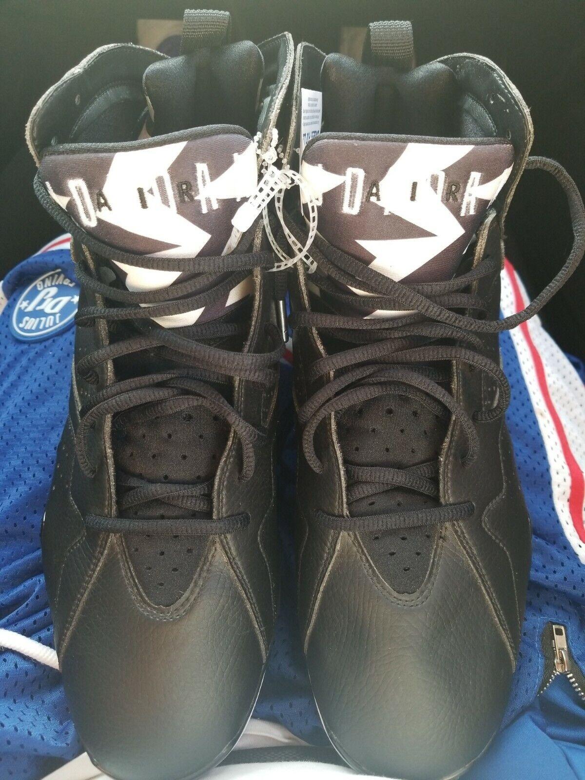 Permanente población Nathaniel Ward  Nike Air Jordan VII 7 Retro TD Football Cleats Black White Oreo Sz  (719543-010) 11 for sale online | eBay