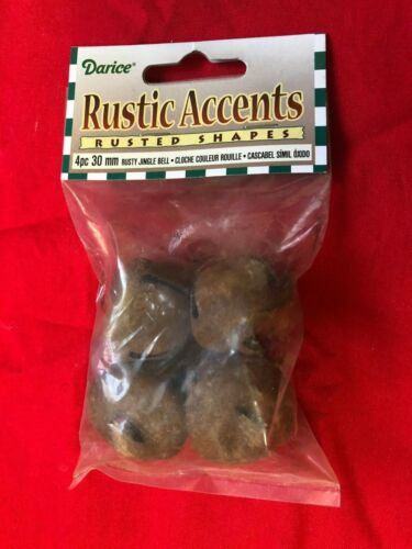 Rusty Bells Christmas Jingle Bell Craft XMAS Ornament  your choice of size /& AMT