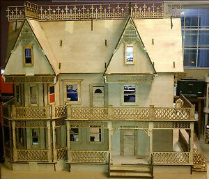 Victorian Farmhouse 1 Scale Large Dollhouse Kit 9 Rooms Ebay