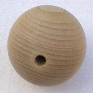 Holzkugeln-30-mm-Kugel-mit-halber-Bohrung-Buche-natur-Rohholzkugeln