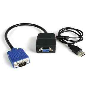 StarTech-ST122LE-2-Port-VGA-Video-Splitter-USB-Powered-1xHD-15-Video-In