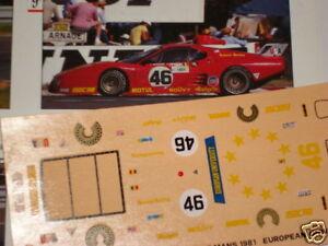 FERRARI 512 BB LE MANS 1980 UNIVERSITY 1//43 DECALS