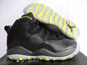 buy popular a023f fc024 Details about NIKE AIR JORDAN 10 X RETRO (GS) BLACK-VENOM SZ 4Y-WOMENS SZ  5.5 [310806-033]