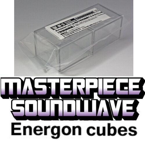Transformers Takara Masterpiece MP-13 Soundwave Energon Cubes 100/% Authentic