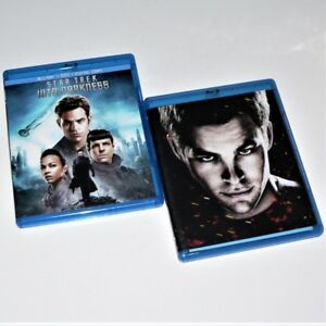STAR TREK - STAR TREK (2009) & INTO DARKNESS (2013) - Blu-ray 2 & 3 Disc sets VG