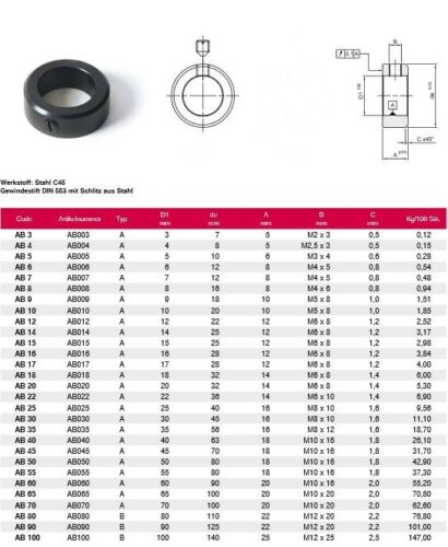 Din 705 Adjusting Ring Steel C45 Browned for 9mm Waves from h9