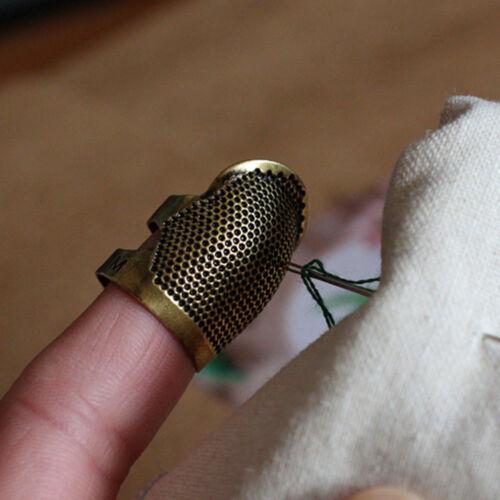 Messing Nähen Fingerhüte Finger Schild Schutz Hand Genäht Metall Fingerhut #xk