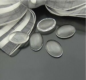 20PCS-Oval-Clear-Transparent-Domed-Magnifying-Glass-Cabochon-Cover-25x18mm