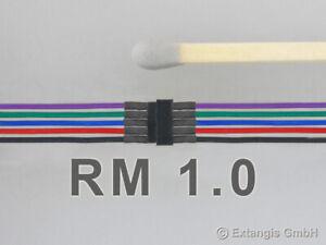 Mini-Steckerset-5-polig-mit-Litze-NMRA-Farbkodierung-Steckverbinder-connector