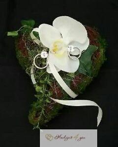 Details Zu Ringkissen Moos Orchidee Exklusiv Neu Hochzeit Kirche Ringe Kissen Deko Rose