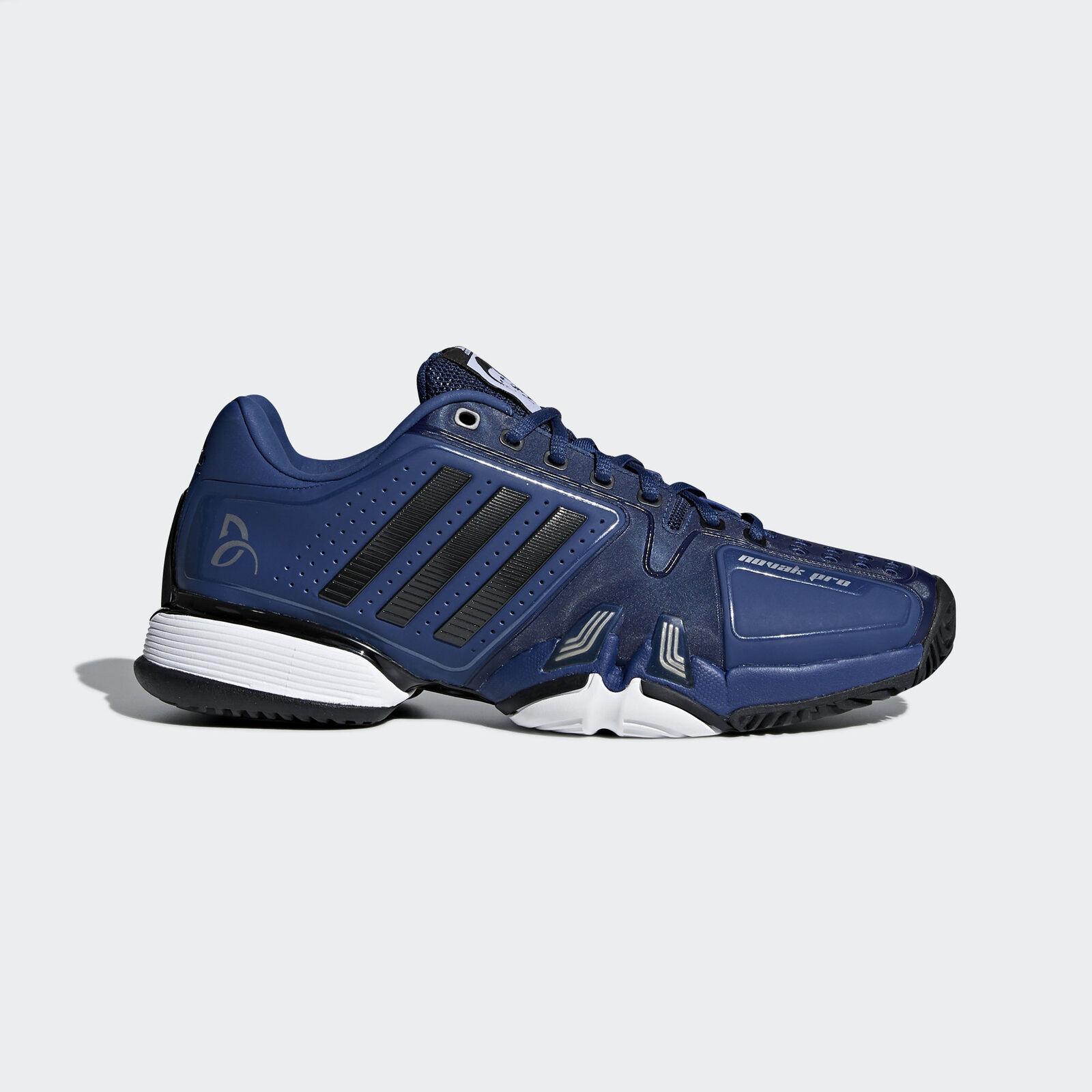 Adidas Novak Pro Price reduction Men Tennis Shoes Novak Djokovic White/Red-Silver