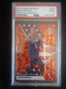 2019-20-Panini-Mosaic-Reactive-Orange-Prizm-Kevin-Durant-USA-Basketball-PSA-9