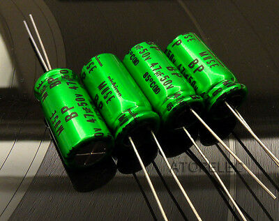 Nichicon MUSE BP Electrolytic Audio Capacitors 4.7uF/10uF/22uF/47uF/100uF