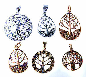 Life Tree Yggdrasil pendant Bronze Or Stainless Steel Several Designs With