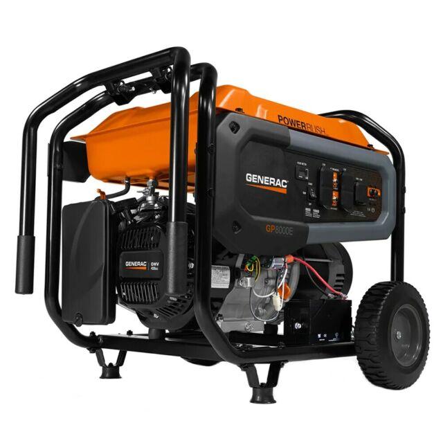 Generac GP8000E - 8000 Watt Electric Start Portable Generator (49-State)