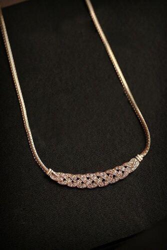 Women Jewelry Crystal Pendant Chain Choker Chunky Statement Bib Charm Necklace