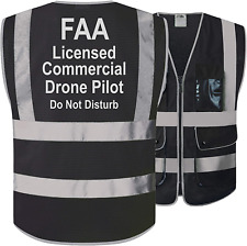 Jksafety Faa Licenced Drone Pilot Hi Vis Retro Reflective Strips Safety Vest H