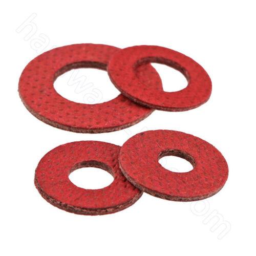 Insulating Fiber Flat Washers Red Sealing M2 M2.5 M3 M3.5 M4 M5 M6 M8 Gasket