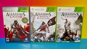 Assassin-039-s-Creed-II-III-IV-2-3-4-XBOX-360-Game-Bundle-Rare-Lot-Revelations
