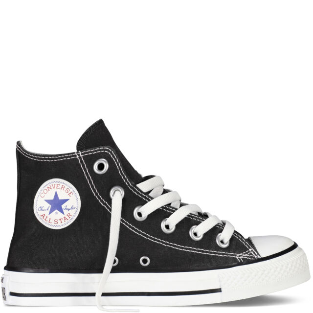 7a39fecba107 Boys Girls Infants Converse Black Hi Tops All Star Unisex Canvas ...