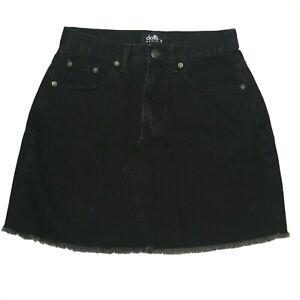 Dotti Womens Denim Skirt Size 8 Black