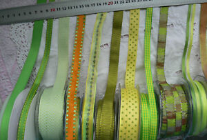 YELLOW-amp-PARROT-GREEN-Polyester-10-20mm-Wide-2-or-3-Metres-9-Design-Style-Choice