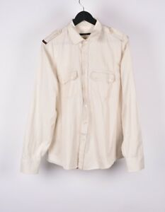20bd3ed4 Image is loading Gucci-Men-Military-Style-Casual-Full-Button-Shirt-