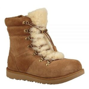 7b0427044f613 Details about NEW $156 UGG AUSTRALIA Viki Patent Girls Waterproof Boots  Coniag Size US 2/EU 32