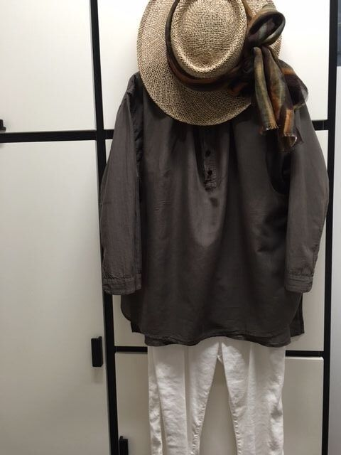 Veritecoeur Japan OS Linen Cotton Short French Collar Shirt Top