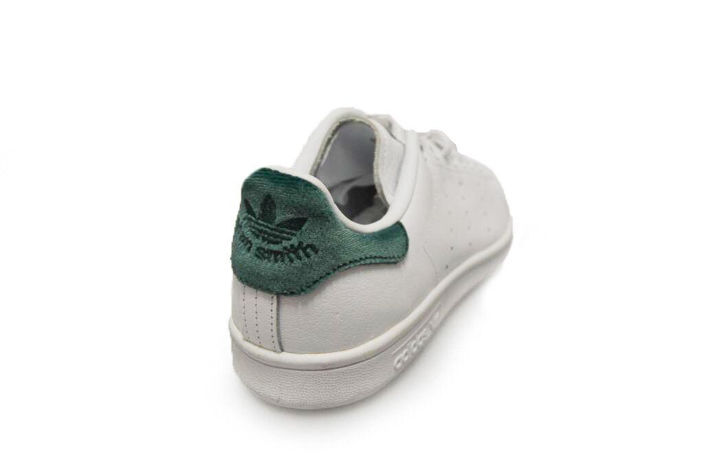 Femme Adidas Stan Smith - - Smith BA7502 - blanc vert Trainers 069d0f