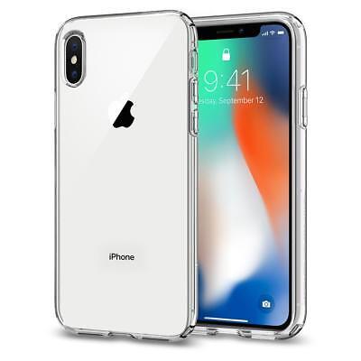 iPhone X Case, Genuine SPIGEN Liquid Crystal Thin Slim SOFT Cover for Apple