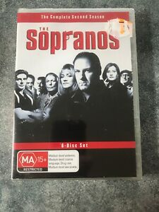 THE-SOPRANOS-DVD-COMPLETE-SECOND-SEASON-MA15-6-DISC-SET-BRAND-NEW-AND-SEALED