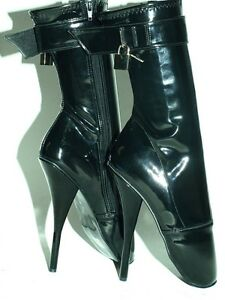 PROMOTION   7  PATENT LEATHER BALLET Stiefel SIZE 7  12 HEELS 8,0 8ef155
