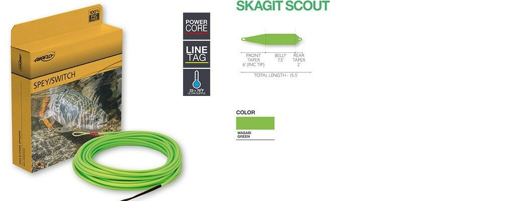 Airflo Skagit Scout Fly Line, Wasabi Green   free shipping & exchanges.