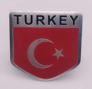 Sticker-Aufkleber-Emblem-Tuerkei-Turkey-Auto-Metall-selbstklebend-Wappen-3D-TUR