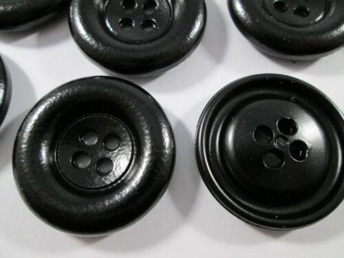 Botón botones 14 unidades negro 28 mm grande #2671#