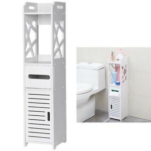 Small Bathroom Storage Corner Floor Cabinet With Doors And Shelve Vanity Cabinet Ebay